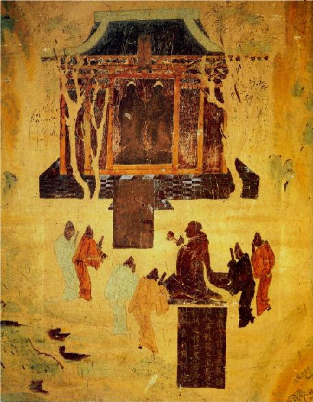 汉武帝发动了历史上著名的汉匈战争。战争对汉朝及以后的货币制度和经济发展产生了深刻的影响。图为敦煌莫高窟壁画描绘的汉武帝祭拜汉匈战争中缴获的战利品:匈奴祭天金人-当代金融家